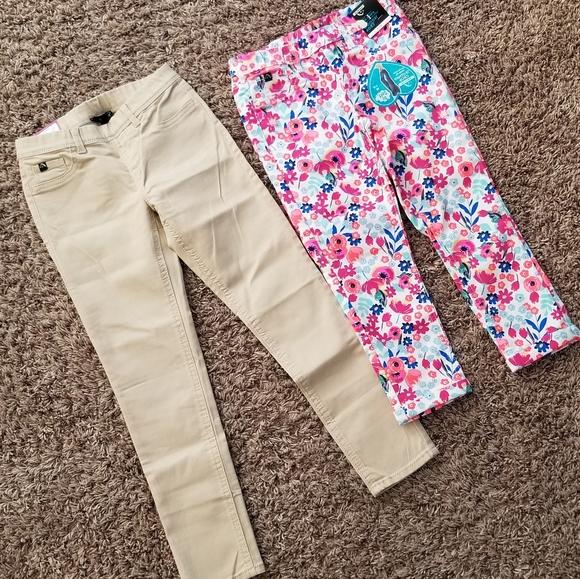 NWT Girls Jordache Jeggings White Jeans Leggings Pants Fashion Bottom Wear